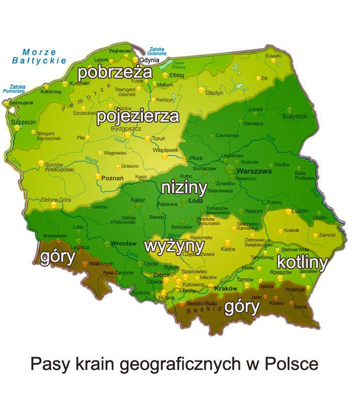 Krainy Geograficzne Polski