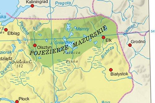 Pojezierze Mazurskie Mapa Jeziora Miasta Atrakcje Turystyczne
