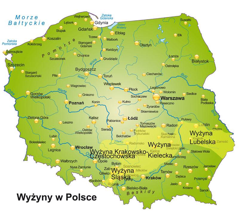 Wyżyny W Polsce