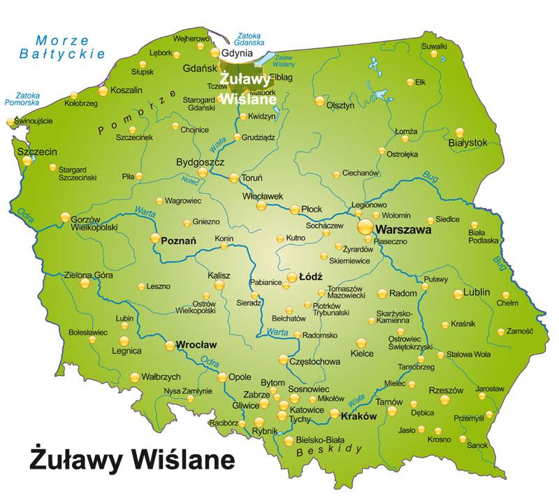 Zulawy Wislane Polozenie Mapa Historia Miasta Atrakcje